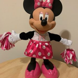 """15"""" Minnie Mouse Cheerleader with pompoms,cheering"""